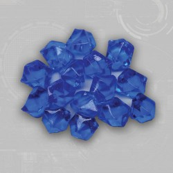 Blue Gem Acrylic Tokens (50)