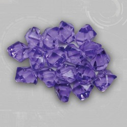 Purple Gem Acrylic Tokens (50)