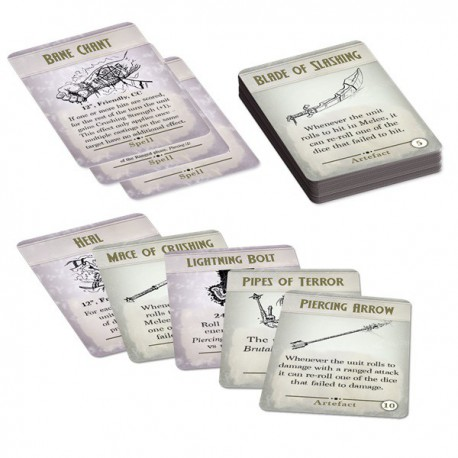 Kings of War 3rd Edition Spell & Artefact Cards (Castellano)