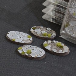 Temple Bases Oval 60mm (x4)