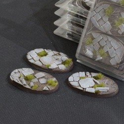 Temple Bases Oval 75mm (x3)