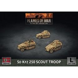 Sd Kfz 250 Scout Troop (3 Plastic)