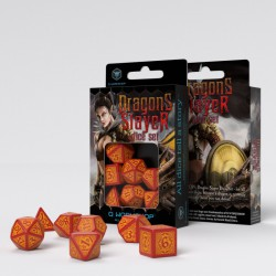 Dragon Slayer Red & Orange Dice Set (7)