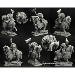 28mm/30mm Dwarf Rogar on Mountain Ram