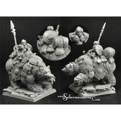 28mm/30mm Dwarf Jorika on War Bear