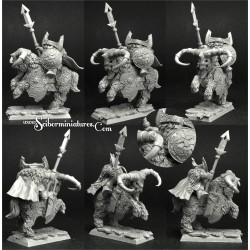 28mm/30mm Dwarf General on Mountain Ram