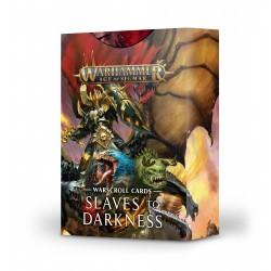 Warscroll Cards: Slaves to Darkness (Inglés)