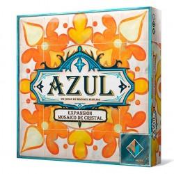 Azul Mosaico de cristal (Spanish)