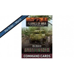 D-Day British Command Cards (47 cards)