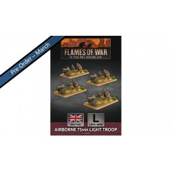 Airborne 75mm Light Troop (x4 Plastic)