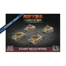 Contains: 4x Stuart (37mm) Tanks, 1x Decal Sheet and 2x Unit Cards