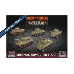 Sherman Armoured Troop  (x5 Plastic)