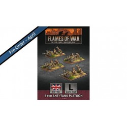 Contains: 4x 6 pdr Gun Teams and 4x Unit Cards