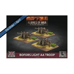 Contains: 3x Bofors 40mm AA Gun Teams and 1x Unit Card