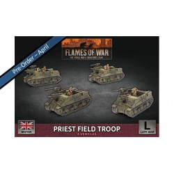 Contains: 4x Priest (105mm) Self-propelled Guns, 1x Decal Sheet and 2x Unit Cards