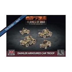 Contains: 2x Daimler Armoured Cars, 2x Dingo (MG) Armoured Cars and 1x Unit Card