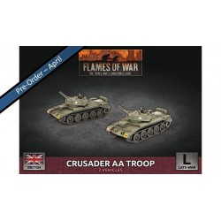 Contains: 2x Crusader AA (Twin 20mm) Self-propelled AA Guns and 2x Unit Cards