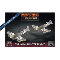 Contains: 2x Typhoon Aircraft, 1x Decal Sheet, 2x Flight Stands, 4x Rare Earth Magnets and 1x Unit Card