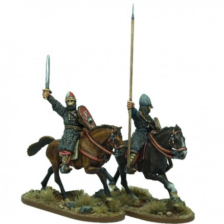 Mounted Norman Warlord and Bannerman