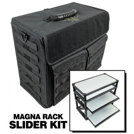 P.A.C.K. 432 Molle Horizontal with Magna Rack Slider Load Out (Black)