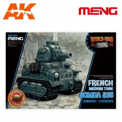 French Medium Tank Somua S-35 (cartoon model)