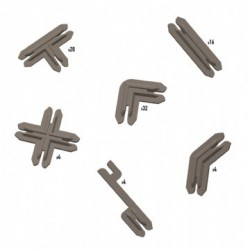 Plastic Terrain Clips - Brown
