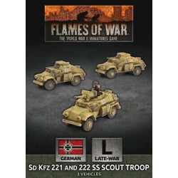 Sd Kfz 221 and 222 SS Scout Troop