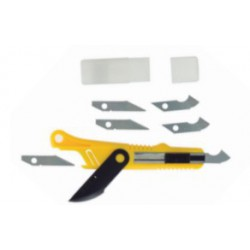 Plastic Cutter Scriber Tool & 5 Spare Blades