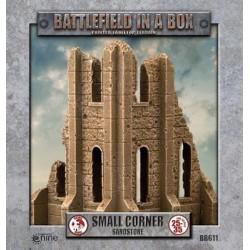 Gothic Battlefields - Small Corner - Sandstone (2) - 30mm
