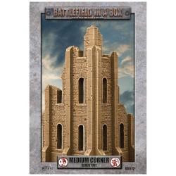 Gothic Battlefields - Medium Corner - Sandstone (1) - 30mm