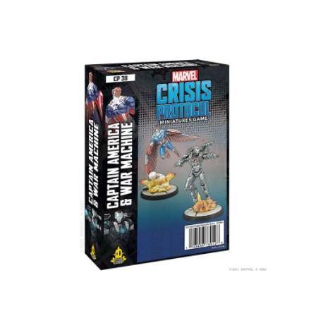 Marvel Crisis Protocol: Captain America and War Machine (Inglés)