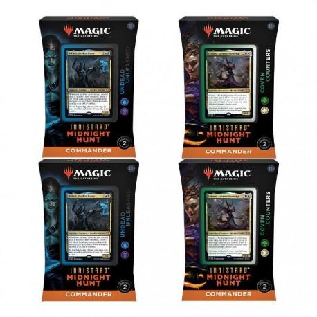 Innistrad Midnight Hunt Caja de 4 Mazos Commander (Castellano)