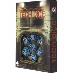 Tech Dice Black-Blue Dice Set (7)