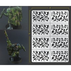 Infantry Traditional Camo Airbrush Stencils