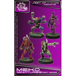 Set of 4 Kaos Demons