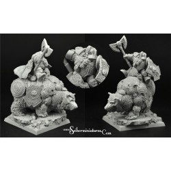 28mm/30mm Dwarf Lord on War Bear Nº 1