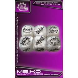 Set of 3 Dwarf Block Dice