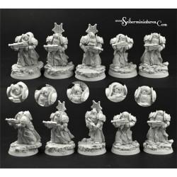 28mm Egyptian SF Warriors Miniatures Set (5)