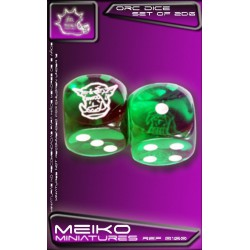 Set of 2d6 Orc Dice