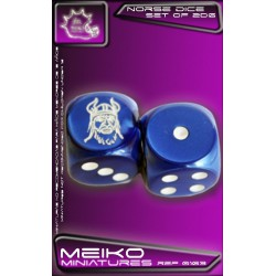 Set of 2d6 Norse Dice