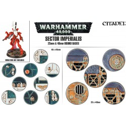 Sector Imperialis: 25 and 40mm Round Bases (60)