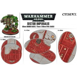 Sector Imperialis: 60mm Round, 75mm and 90mm Oval Bases (18)