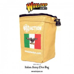 Bolt Action Italian Army Dice Bag & Dice