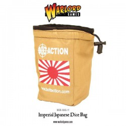 Bolt Action Imperial Japanese Dice Bag & Order Dice (White)