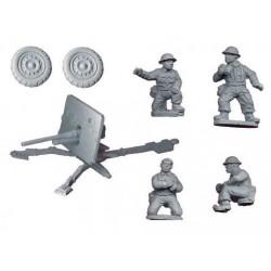 Britsh 2pdr AT Gun and Crew (1 AT Gun, 4 Crew)