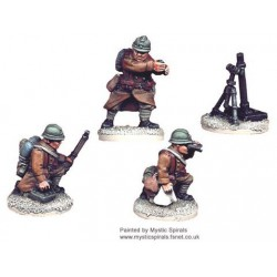 French 81mm Mortar & Crew (1 Mortar, 3 Crew)