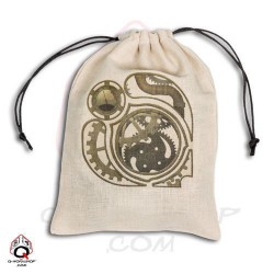 Dice Bag Beige Steampunk