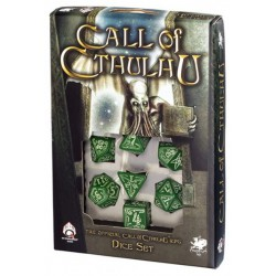 Call of Cthulhu Green & Glow-in-the-dark Dice Set (7) (Fluorescente)