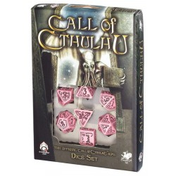 Pink & Black Llamada de Cthulhu Dice - Limited Edition (7)