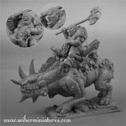 28mm Ogre War Rhino Rider
